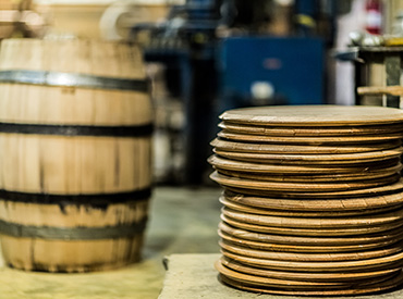 Stack of barrel heads